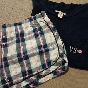Victoria Secret sleep tee and shorts